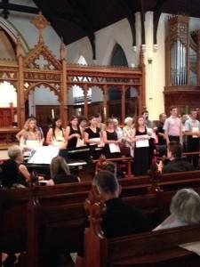 Choristers at the John Shute Memorial Concert