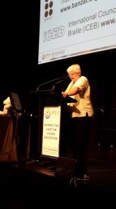 Kathy Riessen speaking at SPEVI 2017