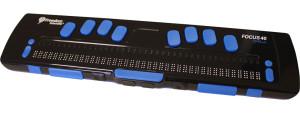 Focus braille display